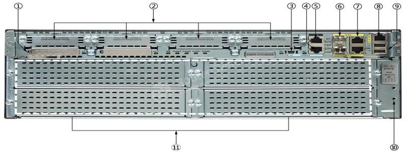 روتر شبکه سیسکو Cisco C3945 VSEC/K9