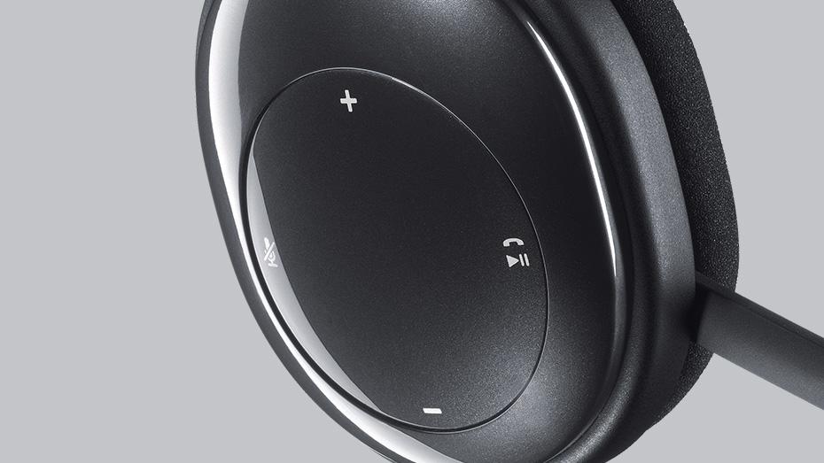 کنترل های روی گوش لاجیتک H800